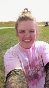 Jessica in her first ever color run !